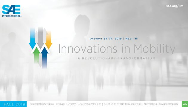 SAE – Innovations in Mobility 2019 – 'A Revolutionary Transformation'