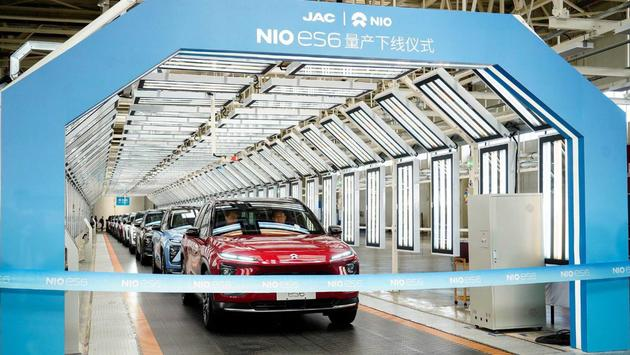 First NIO ES6 with Weibang transmission delivered