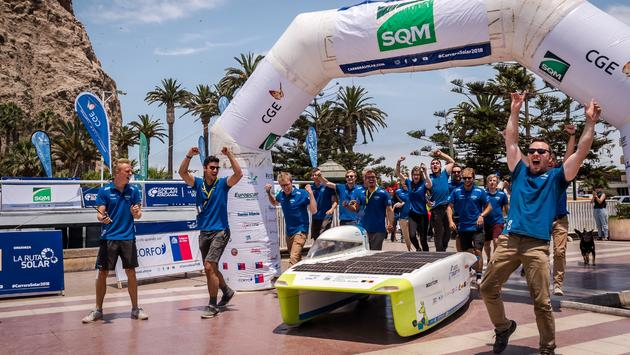 Punch Powertrain Solar Team wint 'Most Extreme' Solar Challenge in Chili